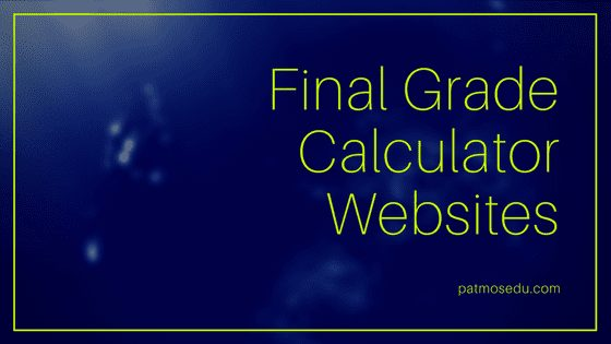 Final Grade Calculator Websites